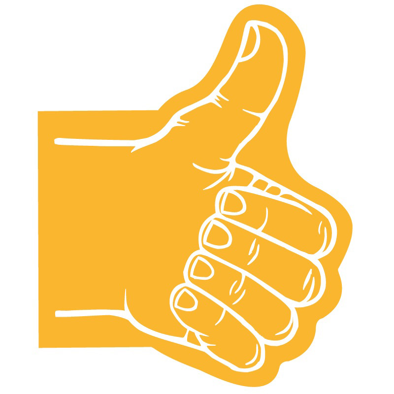 Athlete thumbs up clipart clipart transparent Giant Thumbs Up Hand clipart transparent