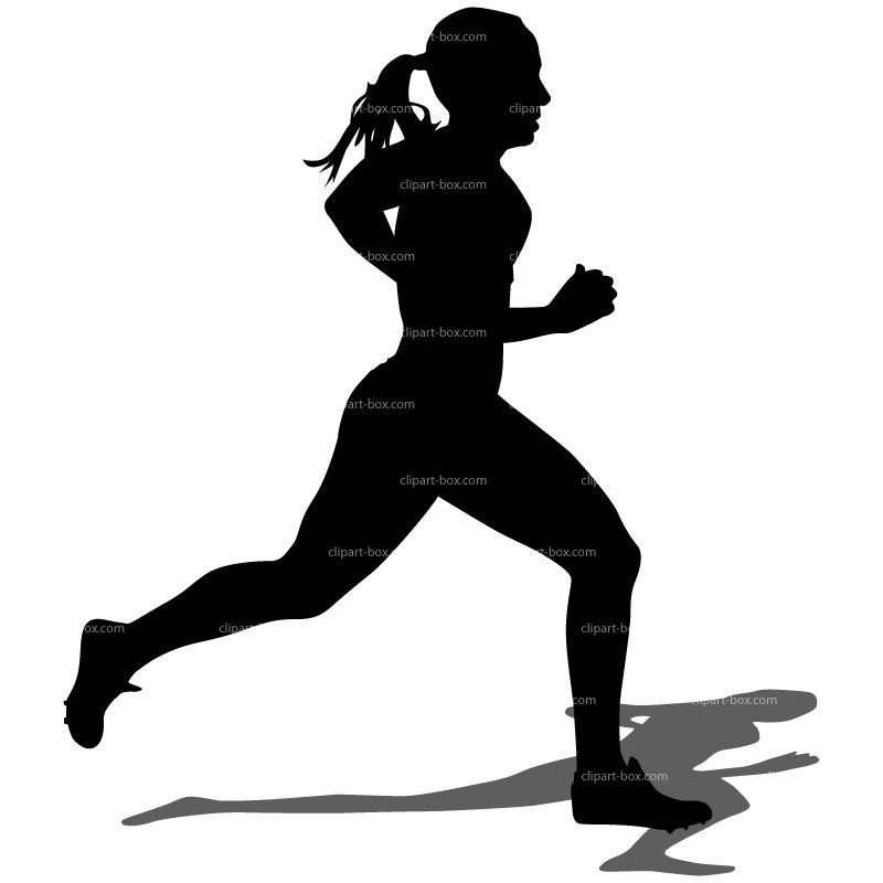 Silhouette girl running clipart png download Running Clipart - Clipart Kid | Healthy Living | Running clipart ... png download