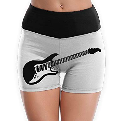Athletic shorts womens clipart banner library download Womens Yoga Shorts Rock Music Guitar Clipart High-Waist Athletic ... banner library download