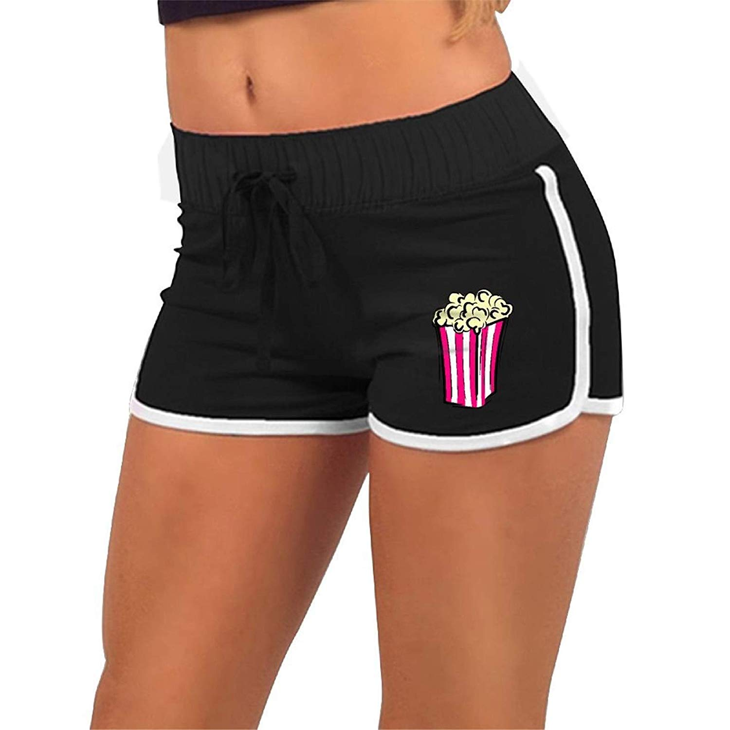 Athletic shorts womens clipart png free download Amazon.com: Running Workout Tights Yoga Shorts, Womens Popcorn Clip ... png free download