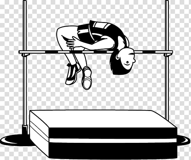 Athletics high jump clipart graphic black and white High jump Track & Field Sport Jumping , athletics track transparent ... graphic black and white
