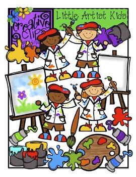 Atist kids clipart banner royalty free library Little Artist Kids {Creative Clips Digital Clipart} banner royalty free library