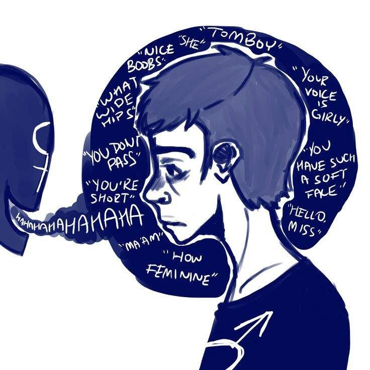 Atistic hair clipart trans banner DrewsViews: Coping with Body Dysphoria - Matthew\'s Place - Medium banner