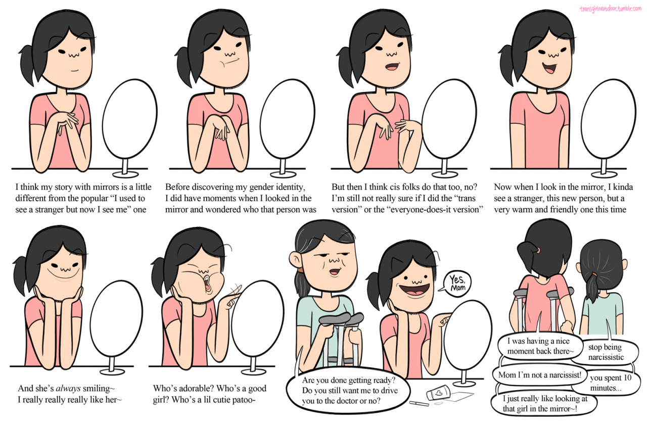 Atistic hair clipart trans jpg stock These Super Cute Comics About Life As a \'Trans Girl Next Door\' Will ... jpg stock