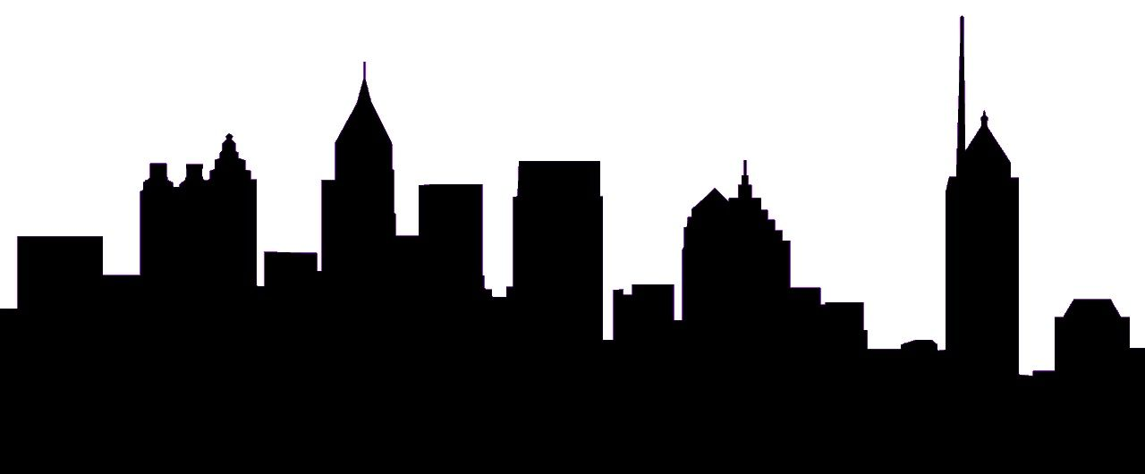 Atlanta black and white clipart svg Pin by Fragments on Silhouettes/Drawings | Atlanta skyline, Skyline ... svg