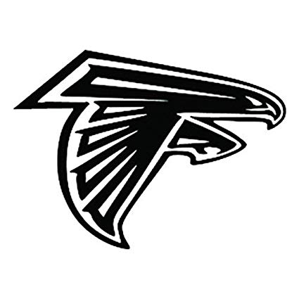 Atlanta black and white clipart svg royalty free stock Amazon.com: Andre Shop NFL - Atlanta Falcons Black Set of 2 ... svg royalty free stock