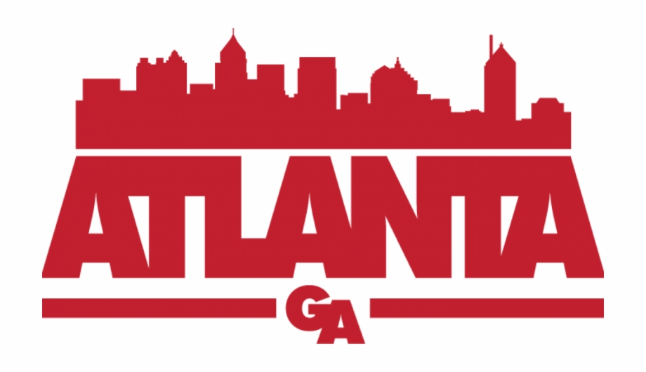 Atlanta skyline clipart image library stock Atlanta - Atlanta Skyline Red Free PNG Images & Clipart Download ... image library stock