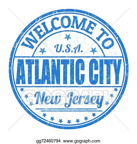 Atlantic clipart image royalty free download Vector Clipart - Welcome to atlantic city stamp. Vector Illustration ... image royalty free download