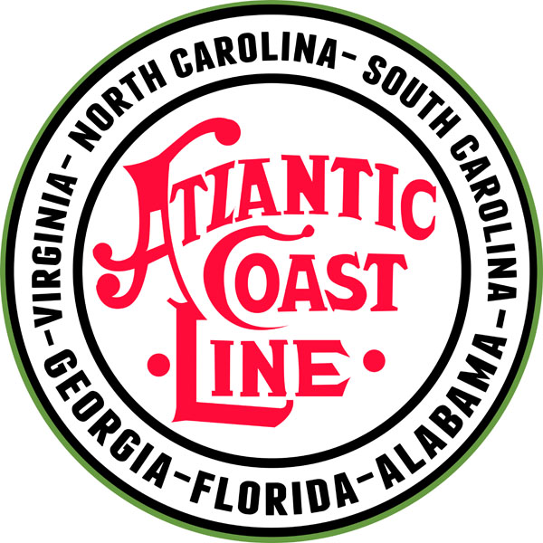 Atlantic coastline railroad logo clipart image free stock Atlantic Coast Line Georgia Florida Alabama Virginia North Carolina Railway  Sign image free stock