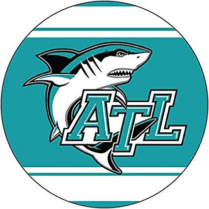 Atlantic high school clipart image freeuse Amazon.com : R and R Imports, Inc Atlantic Sharks High School Port ... image freeuse