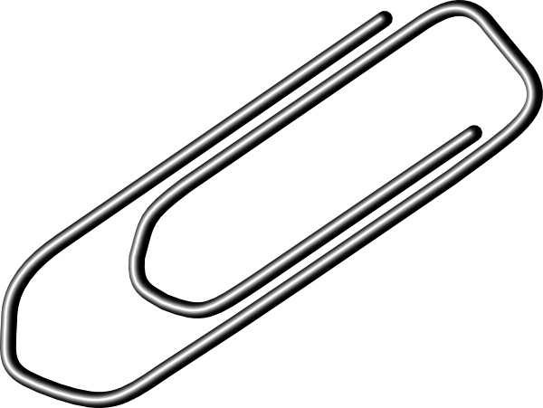 Paper clips clipart png transparent stock Paper Clip clip art Free vector in Open office drawing svg ( .svg ... png transparent stock