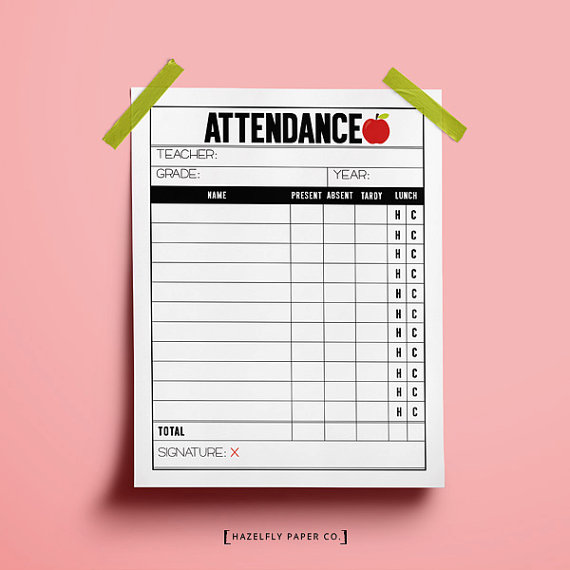Attendance sheet clipart. Register clipartfox printable
