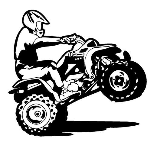 Four wheeler clipart. Free atv silhouette cliparts