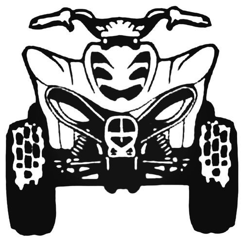 Atv front images clipart graphic free library Atv Front View Style .1 Decal Sticker | Decals that Rock! | Decals ... graphic free library
