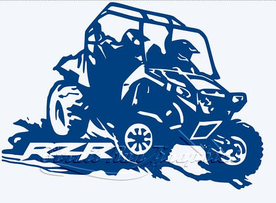 Atv mud clipart clip art freeuse stock Polaris Razar Rzr UTV ATV Side by Side Vinyl Decal 4X4 Atving Mud ... clip art freeuse stock