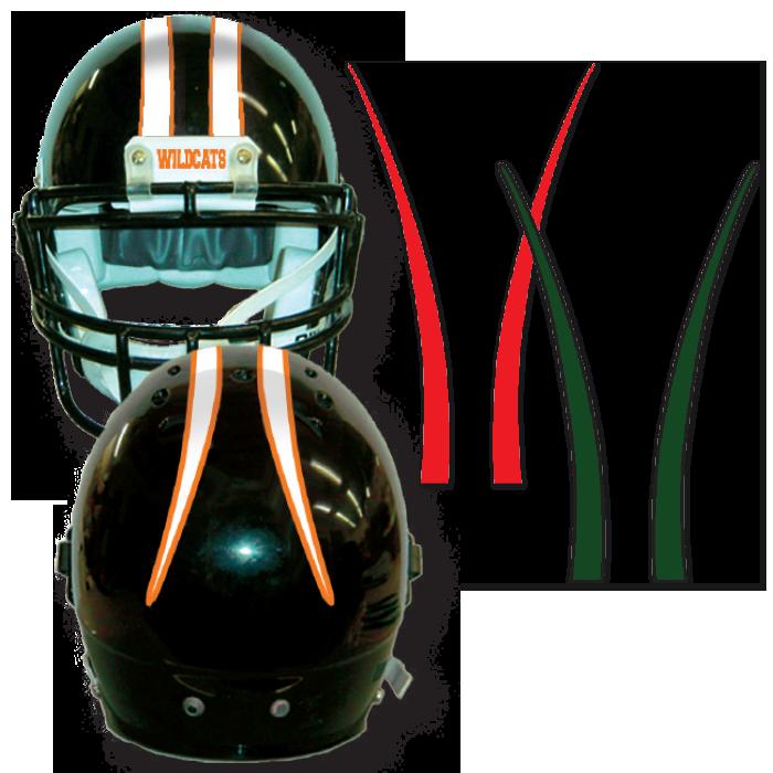 Aubrun football helmet clipart png free library Stripes for your football helmets! Helmet tape, imprinted stripes ... png free library