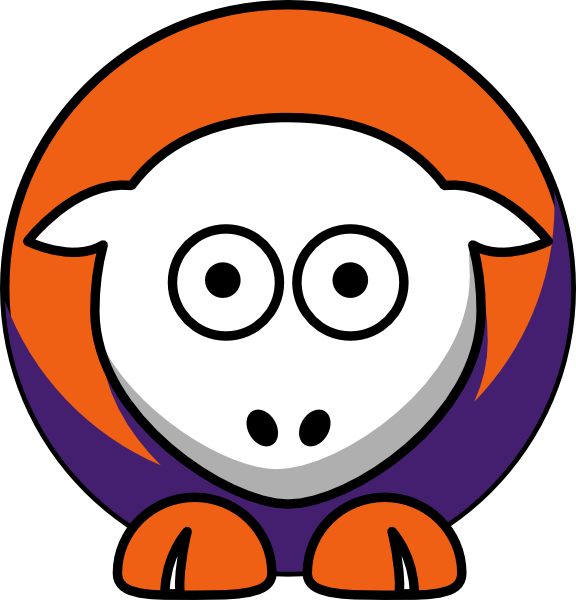 Clemson football clipart clip art library library Sheep - Clemson Tigers - Team Colors - College Football Clip Art at ... clip art library library