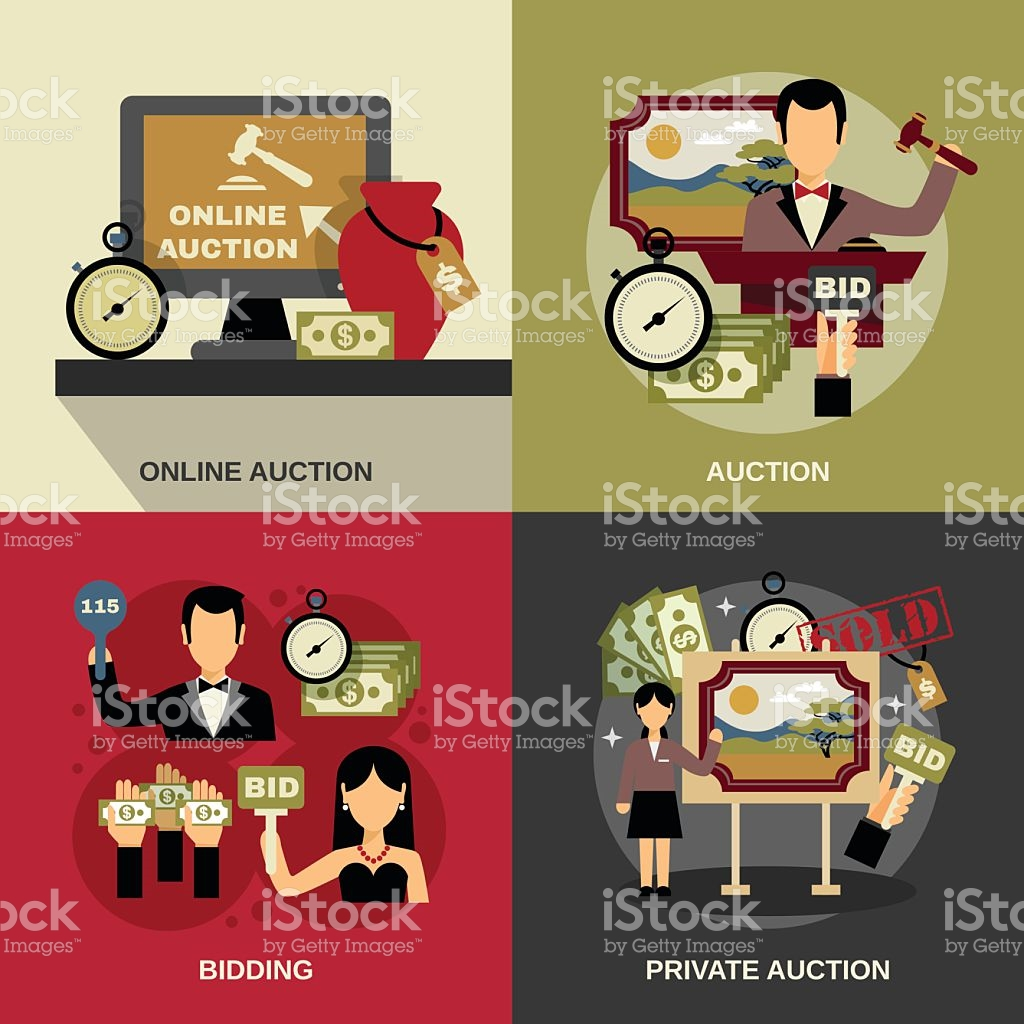 Auction computer in red clipart clipart download Auction Concept Icons Set stock vector art 499547024 | iStock clipart download