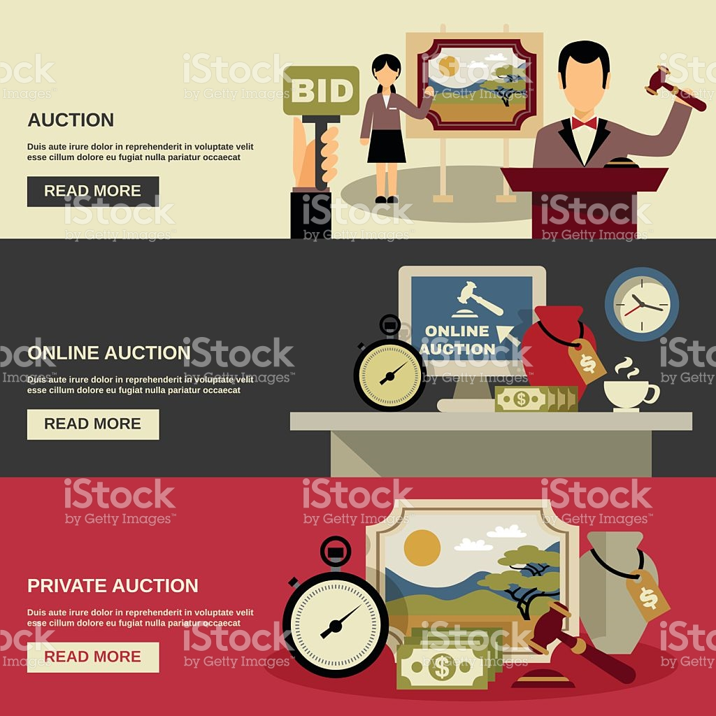 Auction computer in red clipart svg transparent Auction Banners Set stock vector art 499546928 | iStock svg transparent