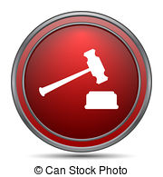 Auction computer in red clipart image royalty free stock Auction red computer icon on white background Illustrations and ... image royalty free stock