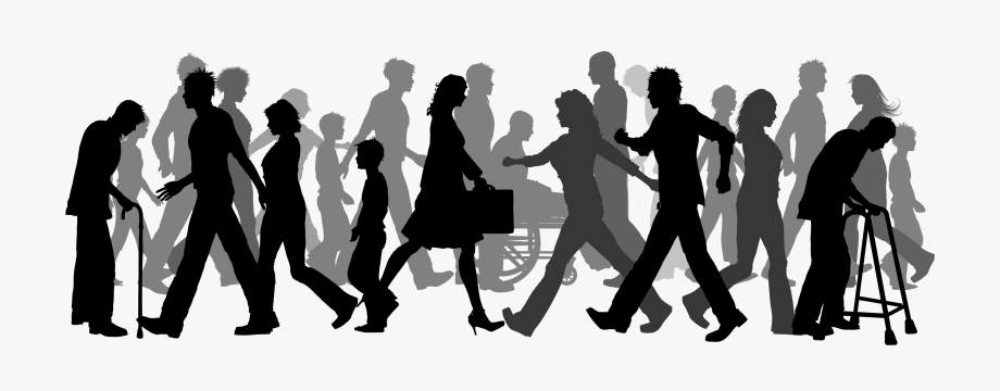 Clipart of people walking svg download Crowd Clipart Corporate Person - Crowd People Walking Png #1259999 ... svg download