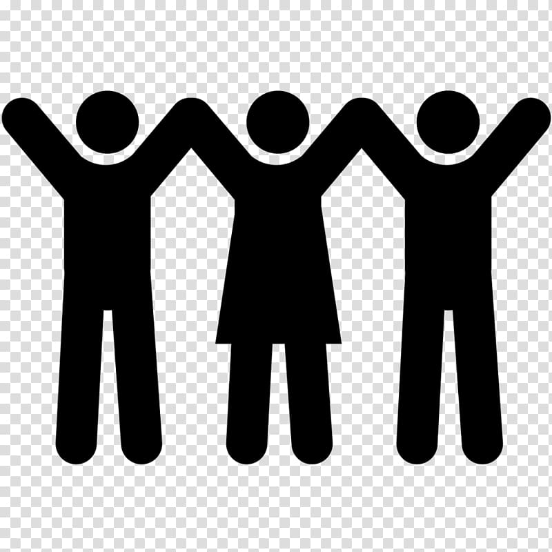 Audience clipart meeting hands image transparent download Two male and one female raising hands symbol logo, Computer Icons ... image transparent download