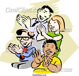Audience clipart meeting hands picture freeuse library People Cheering Clipart   Free download best People Cheering Clipart ... picture freeuse library