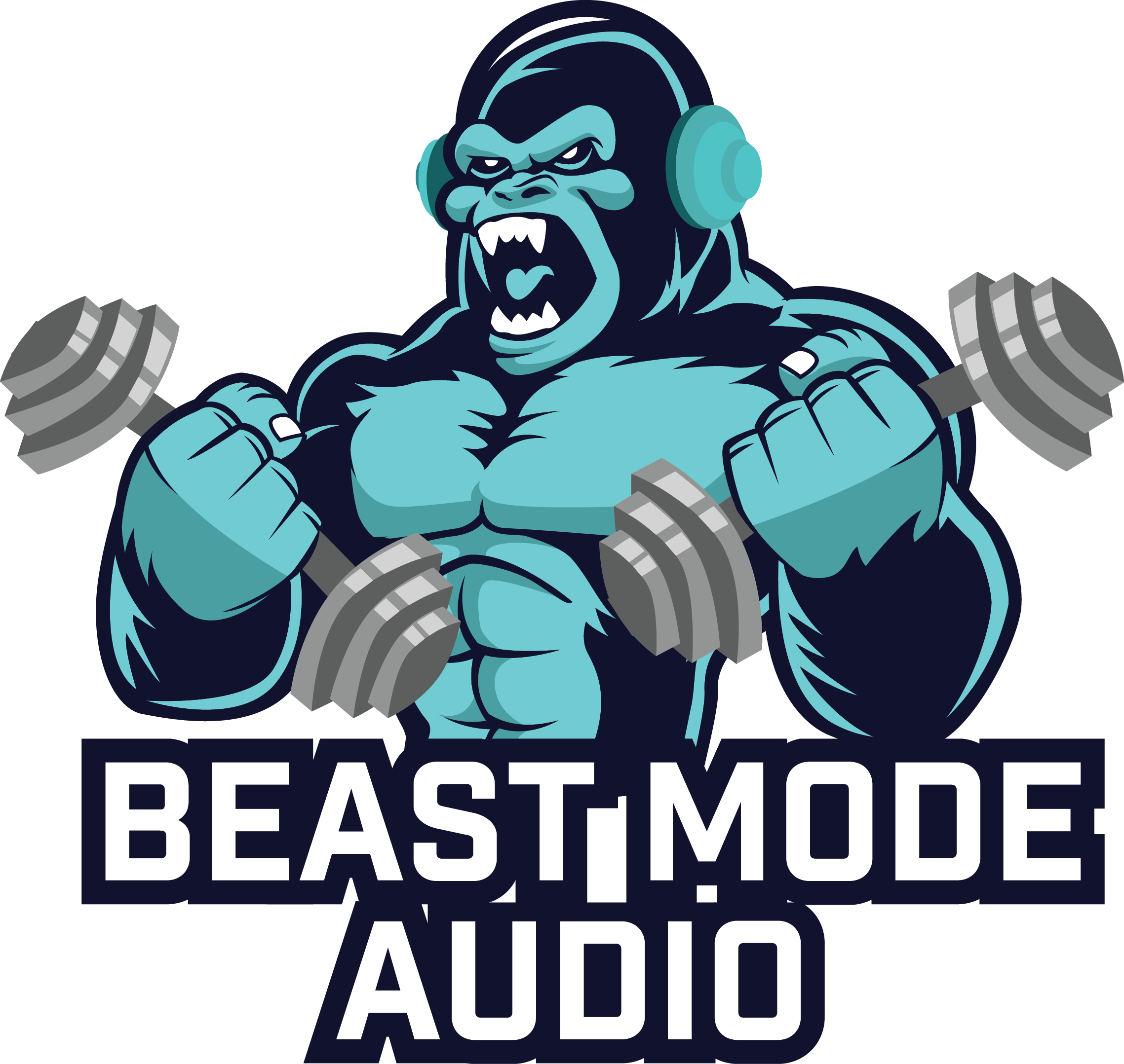 Audio book clipart graphic black and white stock Beast Mode Audio by Joel Beasley graphic black and white stock