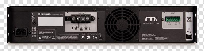 Audio receiver clipart transparent download Audio power amplifier Crown Audio CDi 1000 Crown CDI4000 Power ... transparent download