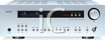 Audio receiver clipart banner royalty free stock Royalty Free Clipart Image of an Audio Hi-Fi Stereo Sound Receiver ... banner royalty free stock