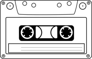 Audio tape clipart graphic library Cassette Audio Tape Clip Art at Clker.com - vector clip art online ... graphic library