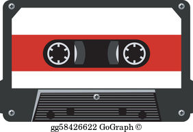 Audio tape clipart jpg library download Cassette Tape Clip Art - Royalty Free - GoGraph jpg library download