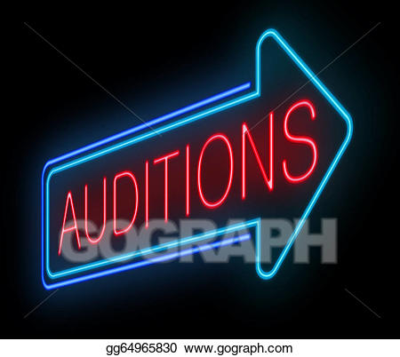 Auditions clipart clip art freeuse stock Stock Illustration - Neon auditions sign. Clipart Illustrations ... clip art freeuse stock