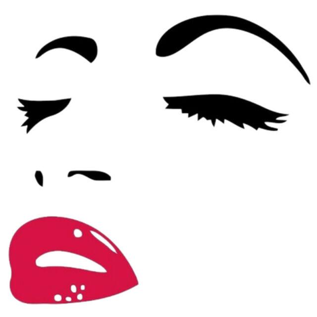 Audrey hepburn eyes clipart vector Women Beauty Audrey Hepburn Eyes Red Lips Removable Room Decor Wall Sticker  T1 vector