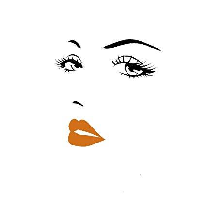 Audrey hepburn eyes clipart svg transparent stock Amazon.com: Aquiver Audrey Hepburn Removable Eyebrow Eyes Lips Room ... svg transparent stock