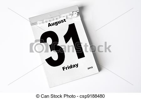 August 2012 calendar clipart image transparent library Stock Photography of 31. August 2012 - calendar sheet csp9188480 ... image transparent library