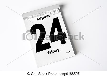 August 2012 calendar clipart clip art library download Picture of 24. August 2012 - calendar sheet csp9188507 - Search ... clip art library download