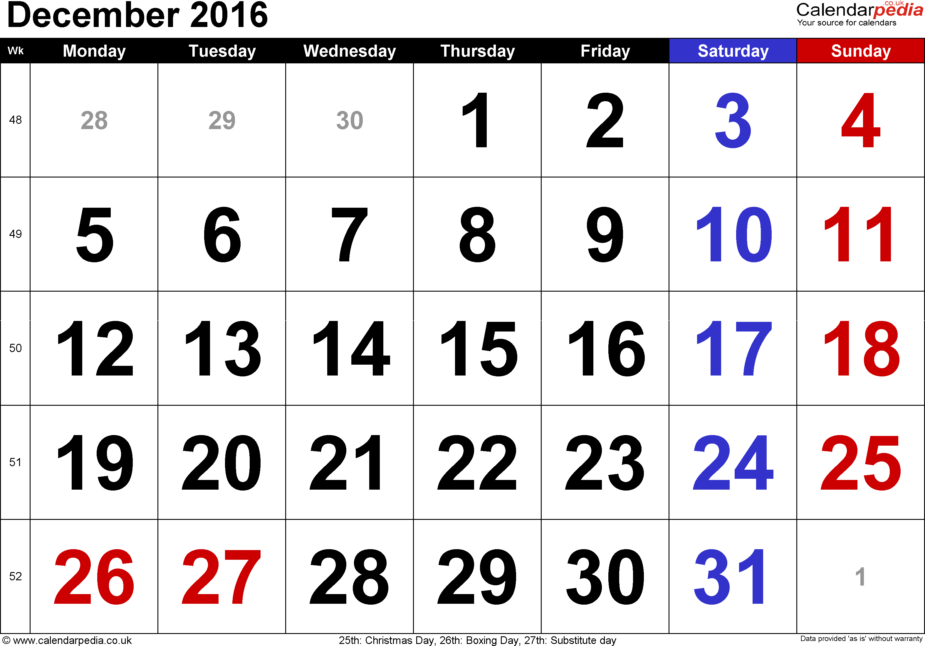 August 2012 calendar clipart image free December 2016 Calendar with Holidays USA Singapore UK Canada India image free