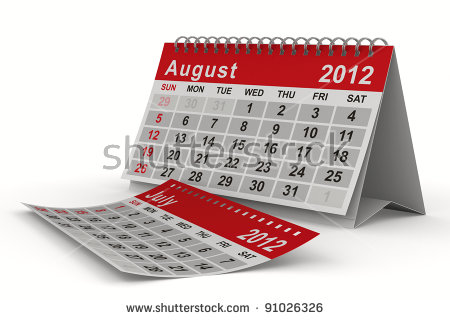 August 2012 calendar clipart clip download August 2012 Calendar Stock Photos, Royalty-Free Images & Vectors ... clip download
