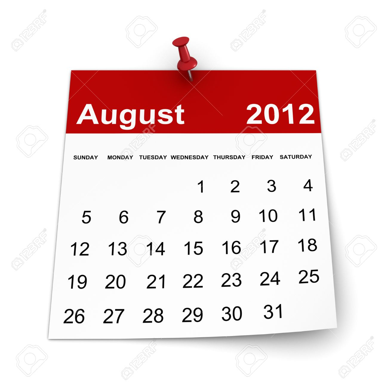 August 2012 calendar clipart image library library Calendar 2012 - August Stock Photo, Picture And Royalty Free Image ... image library library