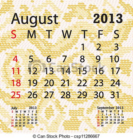 August 2013 calendar clipart image freeuse August 2013 calendar clipart - ClipartFest image freeuse