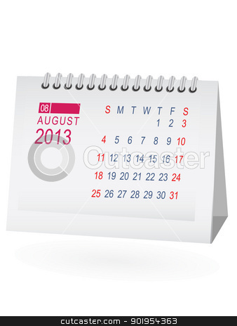 August 2013 calendar clipart image freeuse library August 2013 Desk Calendar stock vector image freeuse library