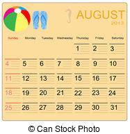 August 2013 calendar clipart graphic black and white stock EPS Vector of August. 2013 Calendar. Optima fonts used. A3 ... graphic black and white stock