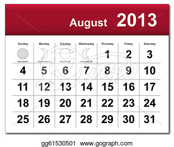 August 2013 calendar clipart graphic free library August 2013 calendar clipart - ClipartFest graphic free library