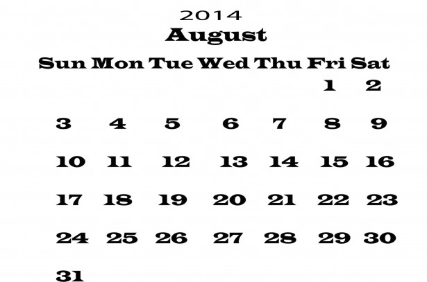 August 2014 calendar clipart graphic royalty free August 2014 calendar clipart - ClipartFest graphic royalty free