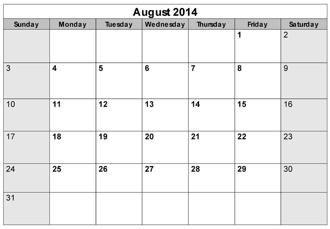 August 2014 calendar clipart svg free download August 2014 Calendar Template. blank january 2014 clipart clipart ... svg free download
