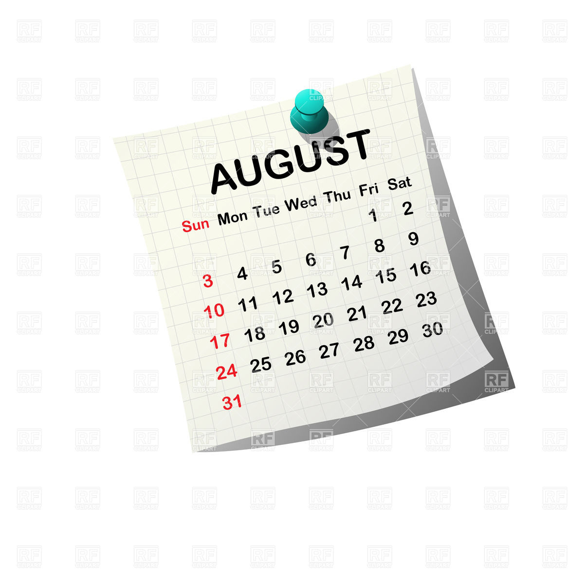 August 2014 calendar clipart free library August Calendar Clipart - Clipart Kid free library