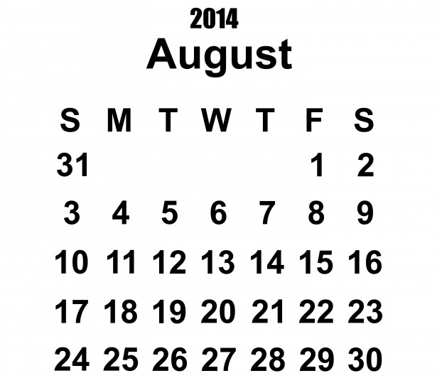 August 2014 calendar clipart picture transparent stock August 2014 calendar clipart - ClipartFox picture transparent stock