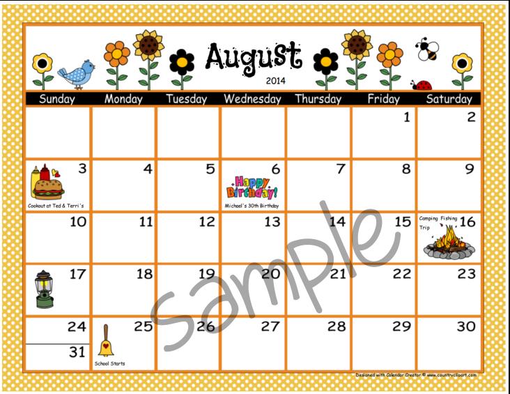 August 2015 calendar clipart banner royalty free library August 2015 Calendar Clipart - Clipart Kid banner royalty free library