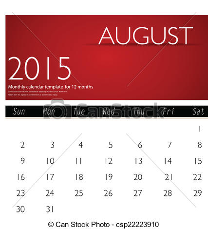 August 2015 calendar clipart. Clipartfox simple